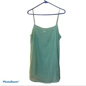 Intimately Free People Sequins Mint Tank Large
